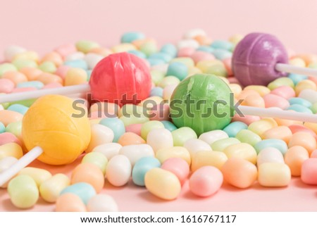 Many types, many flavors and many colors of candy #1616767117