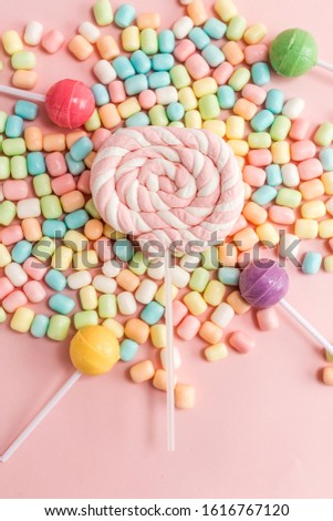 Many types, many flavors and many colors of candy #1616767120