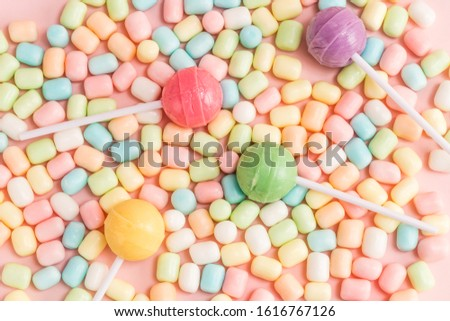 Many types, many flavors and many colors of candy #1616767126