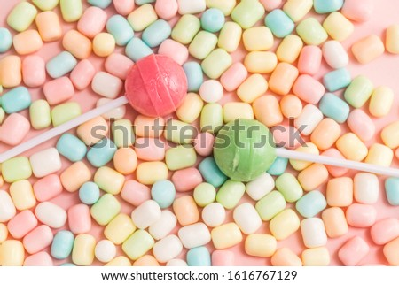 Many types, many flavors and many colors of candy #1616767129