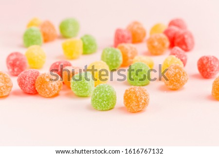 Many types, many flavors and many colors of candy #1616767132