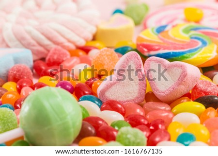 Many types, many flavors and many colors of candy #1616767135