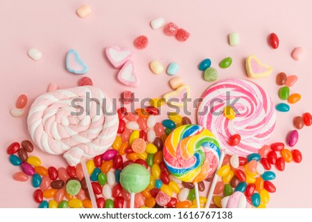 Many types, many flavors and many colors of candy #1616767138