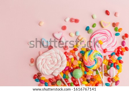Many types, many flavors and many colors of candy #1616767141