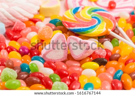 Many types, many flavors and many colors of candy #1616767144