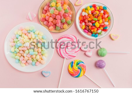 Many types, many flavors and many colors of candy #1616767150