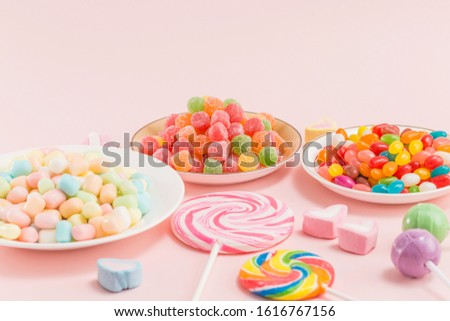 Many types, many flavors and many colors of candy #1616767156