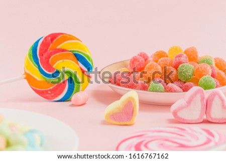 Many types, many flavors and many colors of candy #1616767162