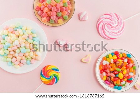 Many types, many flavors and many colors of candy #1616767165