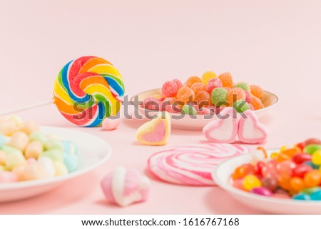 Many types, many flavors and many colors of candy #1616767168