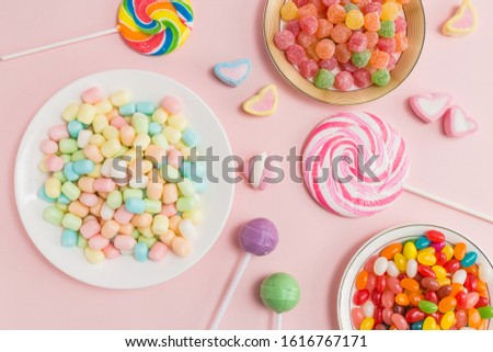Many types, many flavors and many colors of candy #1616767171