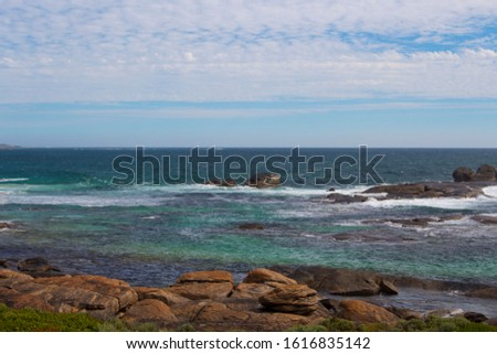 After a day of surfing heavy reef breaks, Redgate offers a nice easy beach break set among beautiful coastal dunes and ancient granite boulders not far from Margaret River, Western Australia. #1616835142