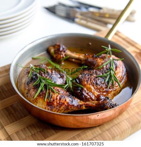 Chicken in pan #161707325
