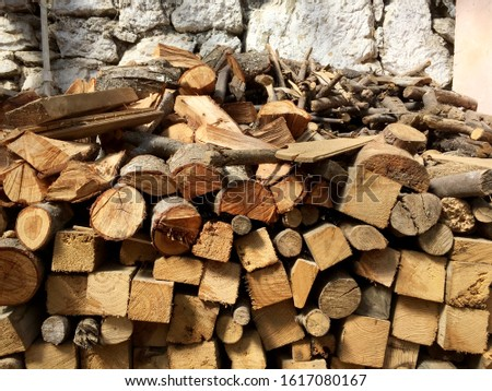 Stack of timber, lumber industry #1617080167