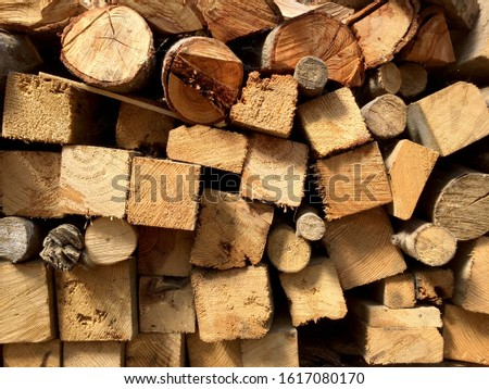Stack of timber, lumber industry #1617080170
