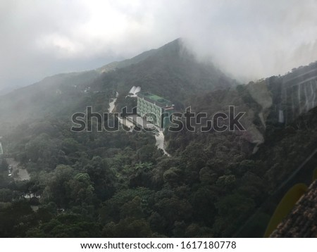 High angle view to buildings on the mountains #1617180778