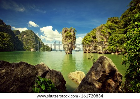 View of nice tropical  island  in summer environment   #161720834