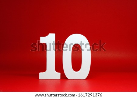 Ten ( 10 ) Percentage Isolated Red  Background with Copy Space - Discount 10% Safe Price Business finance promotion Concept #1617291376