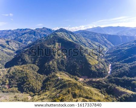 river canyon.mountainous landscape sunny landscape. landscape from the air. #1617337840