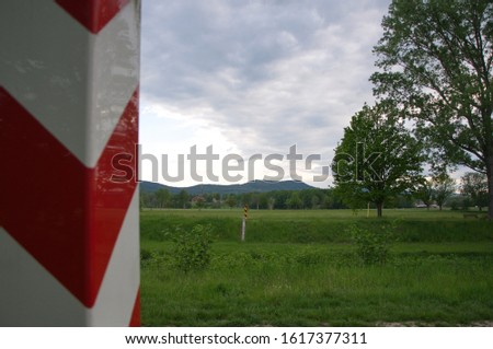 Border posts on the border between Poland and Germany. #1617377311