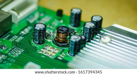 Closeup on Electronic device and electronic board, background #1617394345