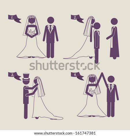 married design over beige  background vector illustration #161747381