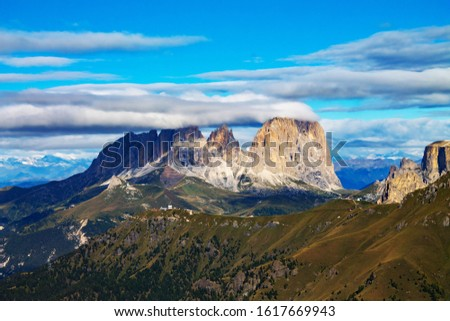 Dolomites  landscape Italy Alps winter #1617669943
