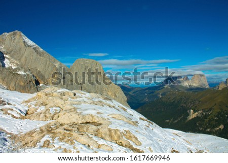 Dolomites  landscape Italy Alps winter #1617669946