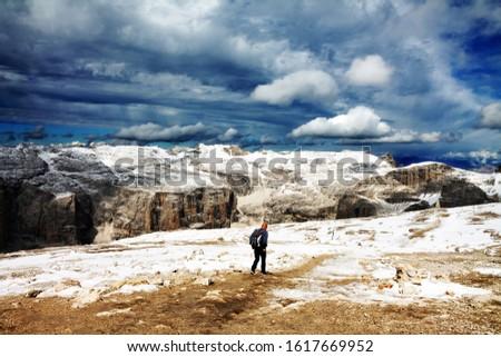 Dolomites  landscape Italy Alps winter #1617669952