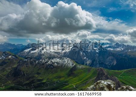 Dolomites  landscape Italy Alps winter #1617669958