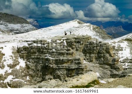 Dolomites  landscape Italy Alps winter #1617669961
