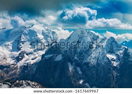 Dolomites  landscape Italy Alps winter #1617669967