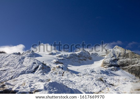 Dolomites  landscape Italy Alps winter #1617669970
