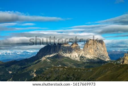 Dolomites  landscape Italy Alps winter #1617669973