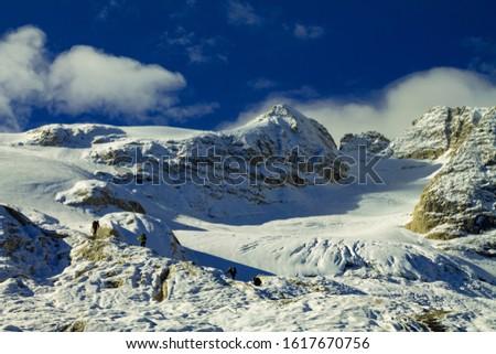 Dolomites  landscape Italy Alps winter #1617670756