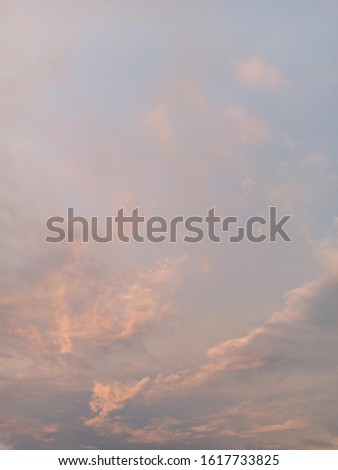 The evening sky and the evening clouds. #1617733825