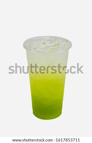 Colourful Italian sodas with no background #1617853711