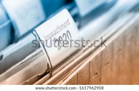 Impeachment USA 2020 - a symbol foto #1617962908