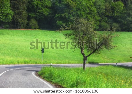 country road in the country side of Germany  #1618066138