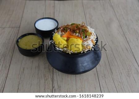 Biryani rice dish. Beautiful Indian rice dish #1618148239