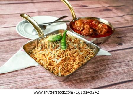 Biryani rice dish. Beautiful Indian rice dish #1618148242