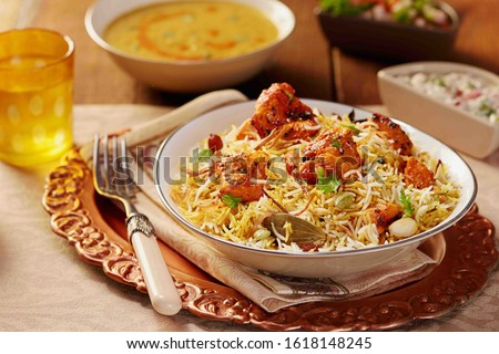 Biryani rice dish. Beautiful Indian rice dish #1618148245