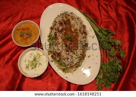 Biryani rice dish. Beautiful Indian rice dish #1618148251