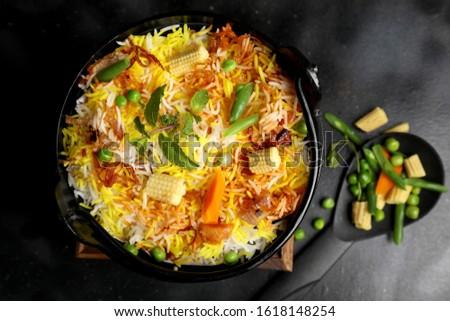 Biryani rice dish. Beautiful Indian rice dish #1618148254