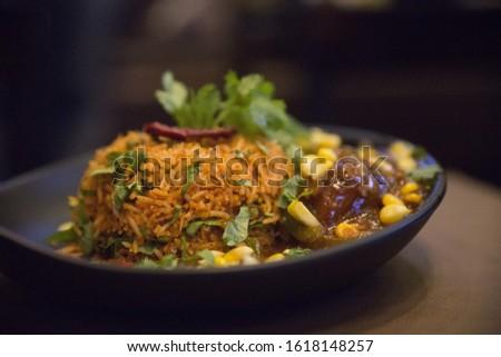 Biryani rice dish. Beautiful Indian rice dish #1618148257