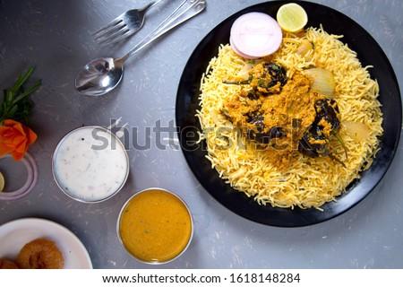 Biryani rice dish. Beautiful Indian rice dish #1618148284
