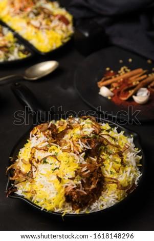 Biryani rice dish. Beautiful Indian rice dish #1618148296