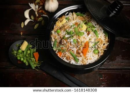 Biryani rice dish. Beautiful Indian rice dish #1618148308
