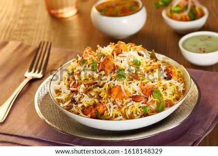 Biryani rice dish. Beautiful Indian rice dish #1618148329