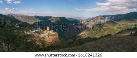Armenia. Tatev Monastery against the backdrop of a majestic landscape. #1618241326